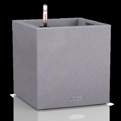 Купить Lechuza Canto Color Куб Серый Камень в СПб с доставкой